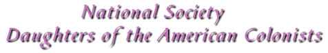 National Society Daughters of the American Colonists