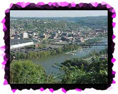 The pointe of McKeesport where the Yough River meets the Mon.