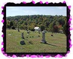 A view looking across Peace Lutheran Cemetery in Greenock, Elizabeth Twp. PA